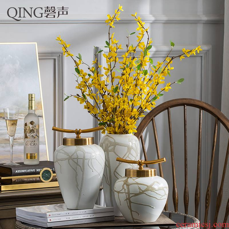 European ceramic vases, flower arranging furnishing articles furnishing articles table sitting room adornment new creative Chinese vase soft outfit decoration