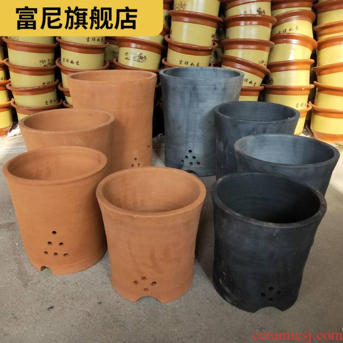 Rich, flower pot made of baked clay basin of clivia tuba basin, coarse sand specials clay ceramic clay old custom breathe freely