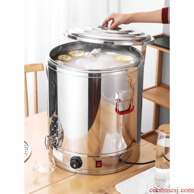 Electric stainless steel heat insulation barrels ltd. tea barrel fantong KaiShuiTong cooking soup barrel'm double big bucket capacity