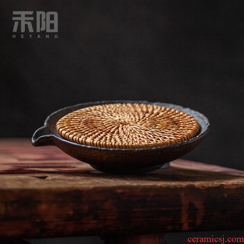 Send Yang coarse clay POTS bearing ceramic pot holder, dry plate mat pot pot mat kung fu tea accessories tea taking with zero