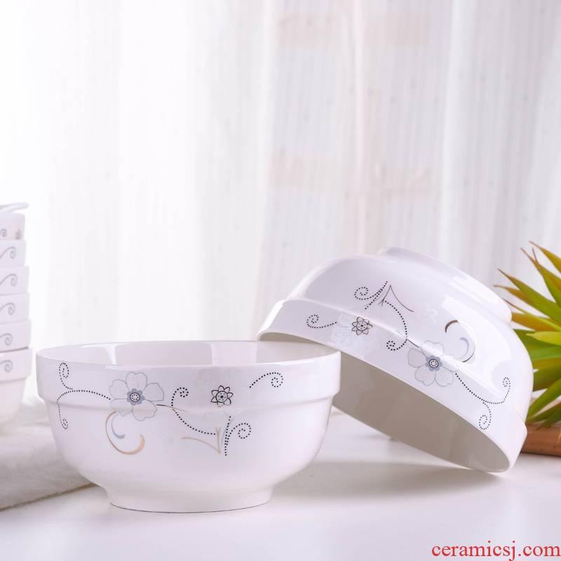 Jingdezhen ceramic bowl home a single bowl of simple move 4.5/5/6 inches continental tableware portfolio for the job