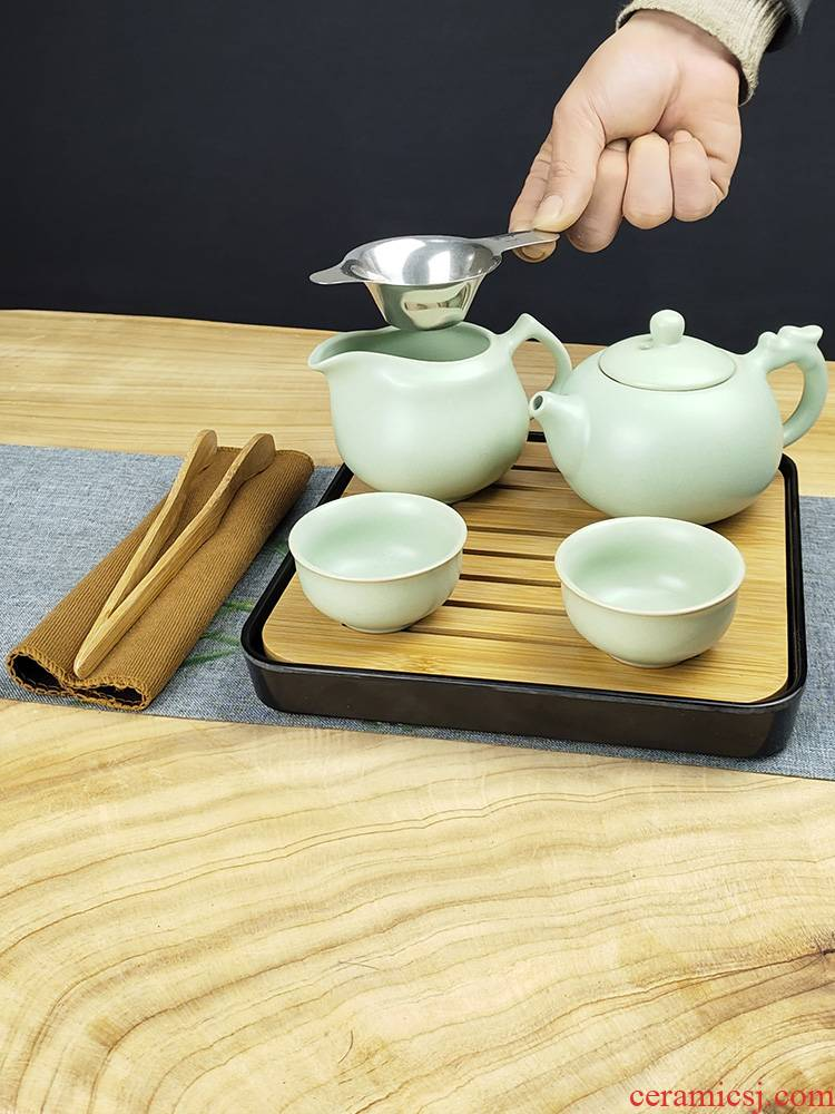 I and contracted household utensils suit small sets of kung fu your up teapot teacup small ceramic tea set tea tray package