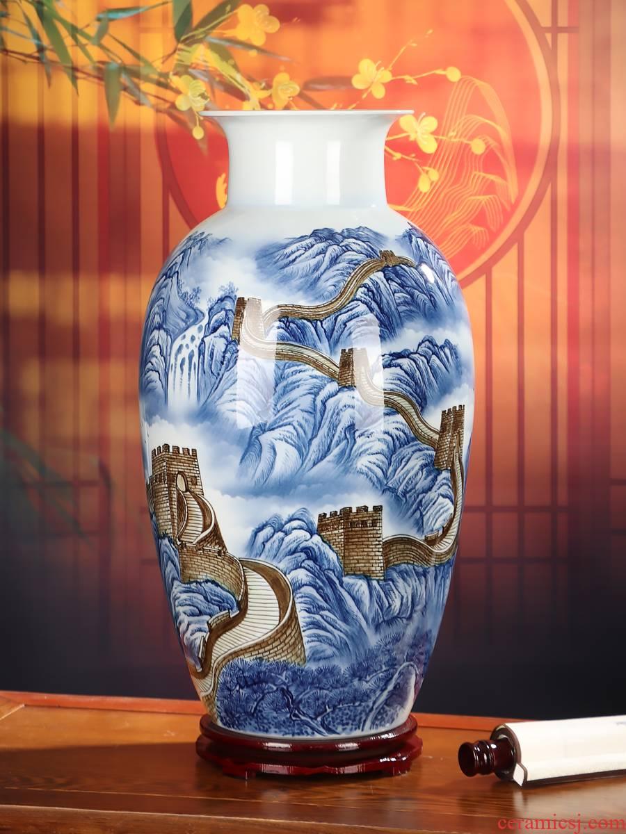 Master hand of jingdezhen ceramics vase furnishing articles flower arrangement sitting room adornment color glaze large landing crafts