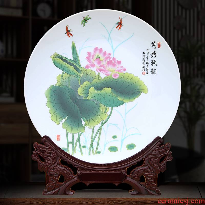 The Lotus pond cixin qiu - yun decoration plate of to industry