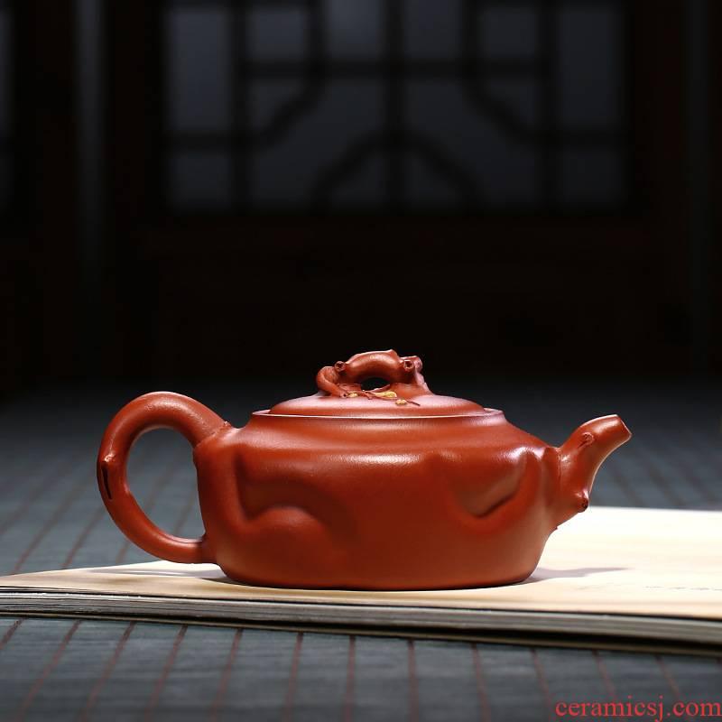 Yixing famous pure manual it kung fu tea authentic hand teapot household teapot name plum tree stump