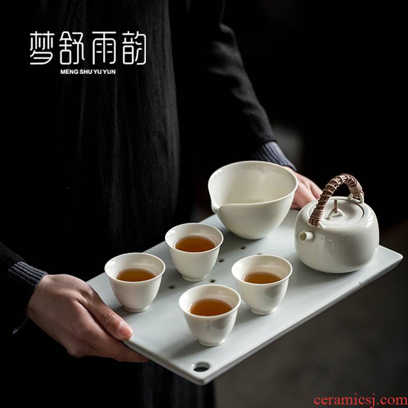 Dream ShuYu rhyme with Japanese tea suit small home sitting room ceramic kung fu tea tea set a complete set of tea cups