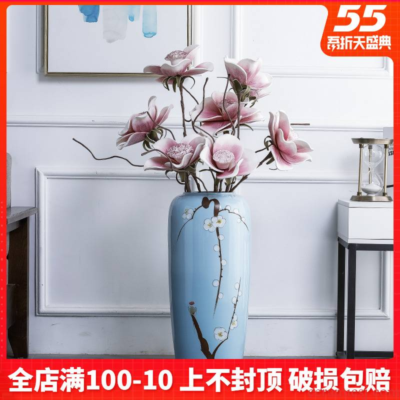 New Chinese style of jingdezhen ceramics hand - made landing simulation flower vases, flower arranging, the sitting room porch home decoration furnishing articles