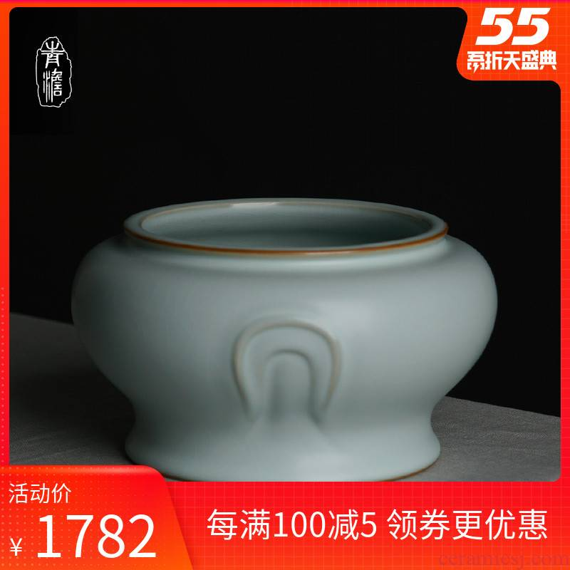 Your up tea to wash large XiCha glass jar is Chinese style household ceramics jingdezhen manual celadon kung fu tea accessories