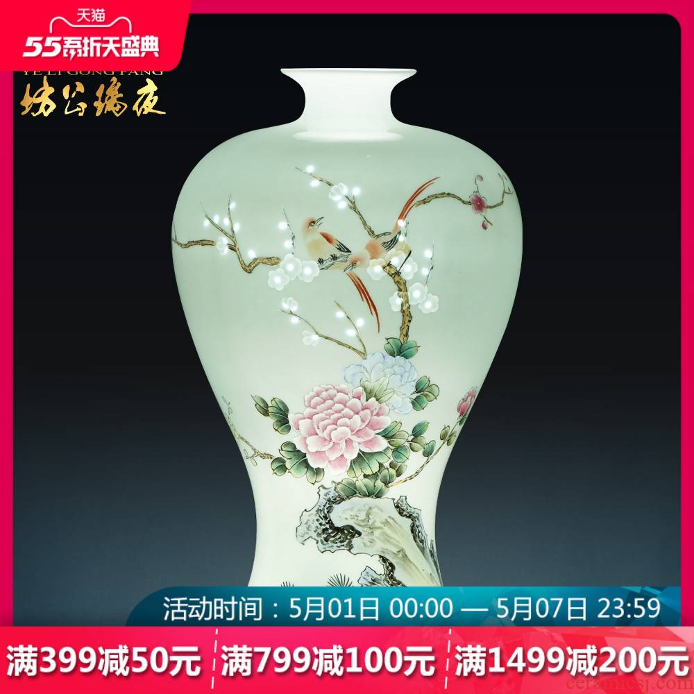 Jingdezhen ceramics hand - made vases, flower arrangement ChunManQianKun Chinese style household act the role ofing is tasted wine sitting room furnishing articles