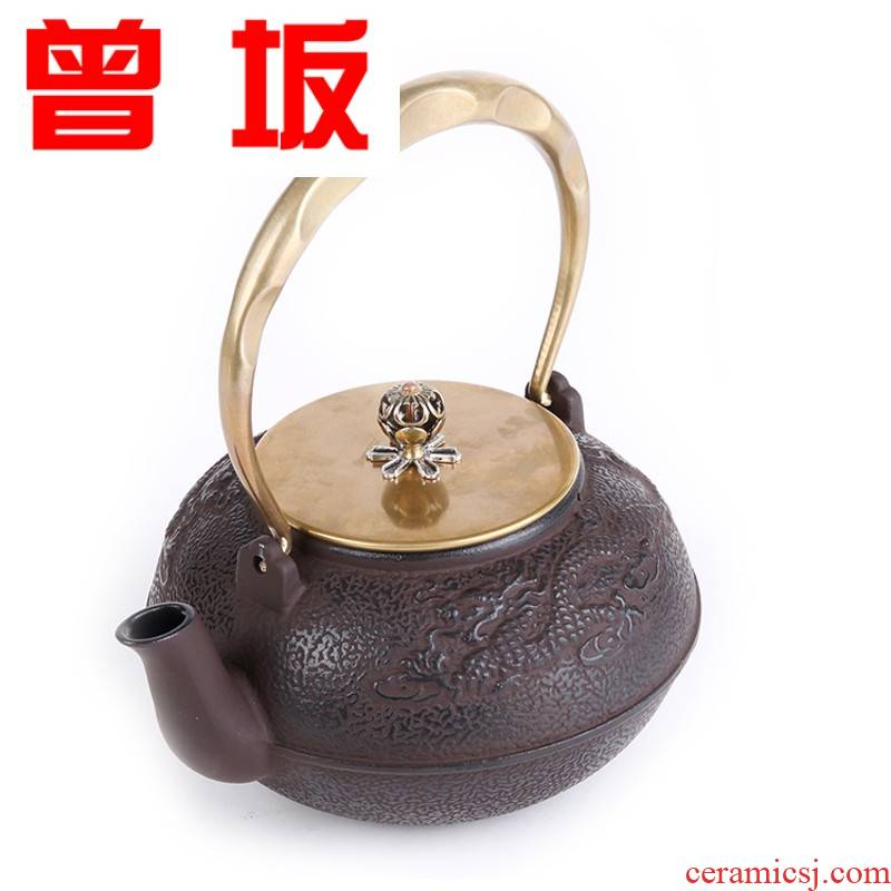 Once sitting kung fu brother pot of boiling water to raise pig iron pot boil tea kettle copper iron pot of the covering cast iron pot