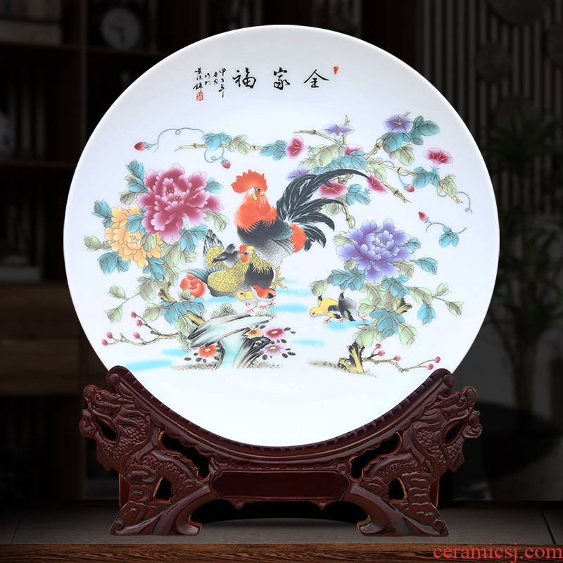 Family decoration plate of to industry