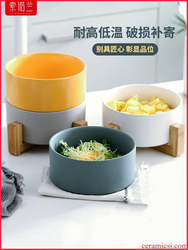 Ceramic bowl of fruit bowl dessert bowl of nice breakfast bowl bowl dish bowl of soup pot soup bowl creative heat - resistant salad bowl