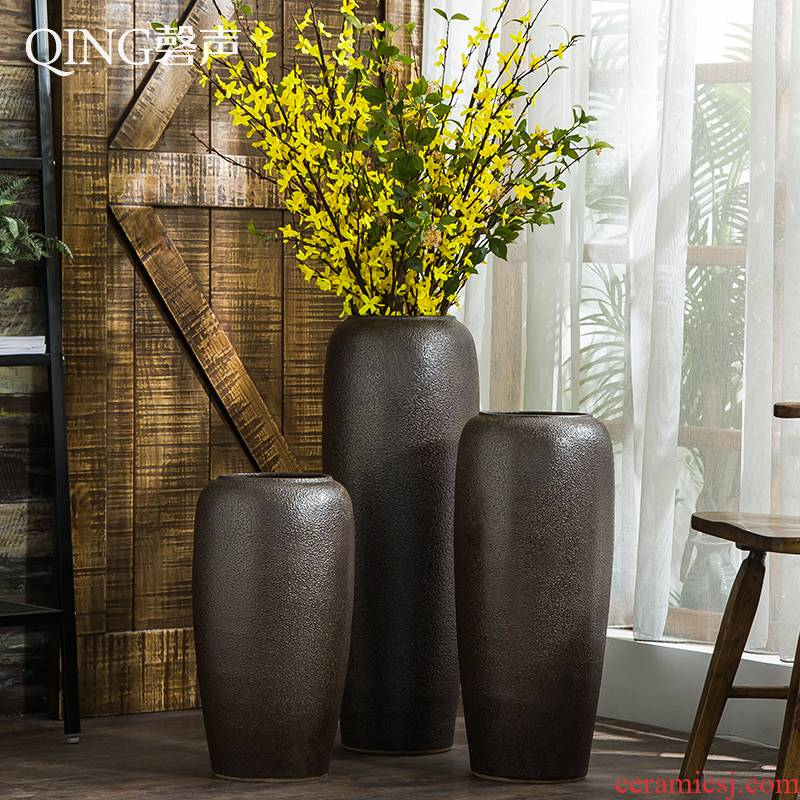 Ceramic vase furnishing articles sitting room decoration ideas dried flower arranging flowers, Chinese style restoring ancient ways of large vase household ornaments