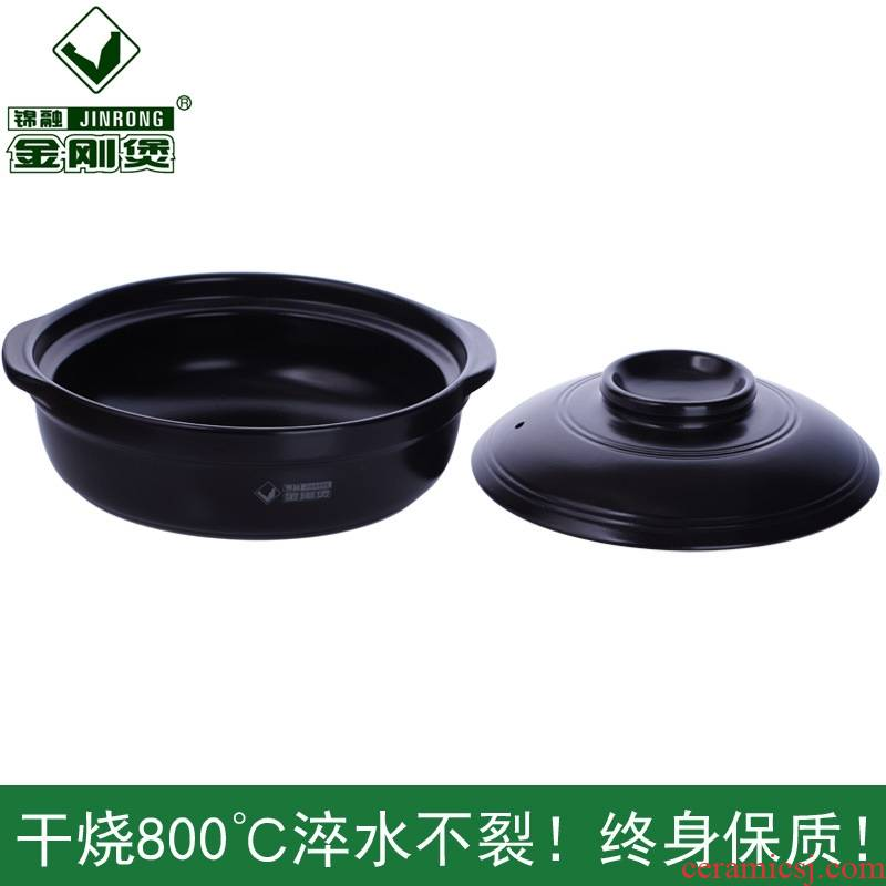 Zhu shopkeeper ceramic casseroles, induction cooker stew for furnace flame flat large pot stewed soup pot soup pot of stew