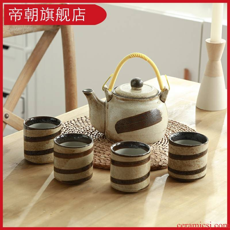 Emperor at the home of kung fu tea set suit creative ceramic cups set of office tea teapot a complete set of restoring ancient ways