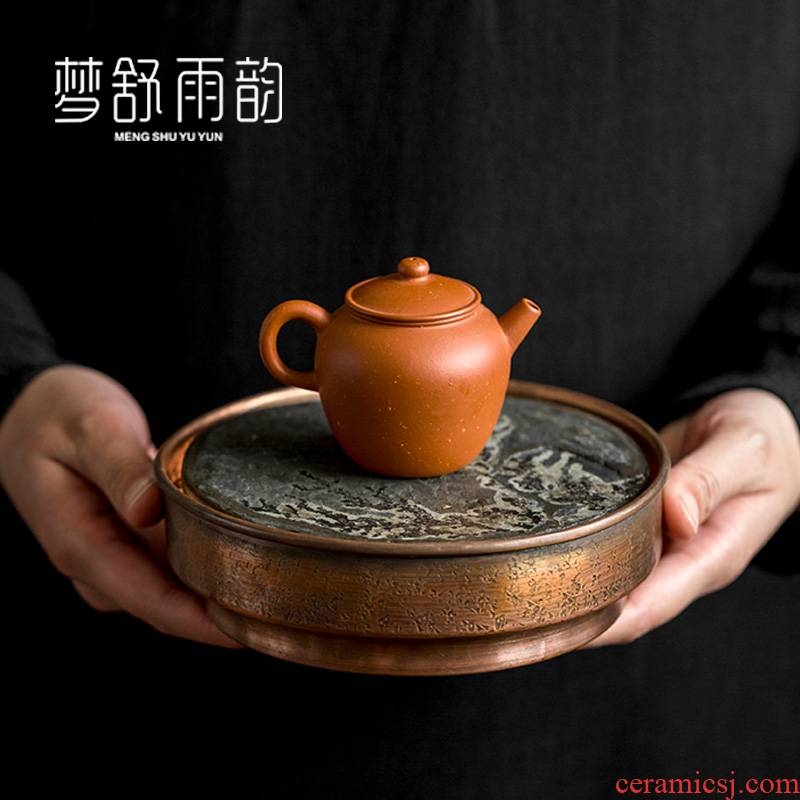 Dream ShuYu rhyme checking copper pot bearing pad built copper water dry mercifully tea tray storage Japanese water restoring ancient ways
