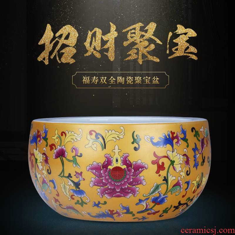 Jingdezhen cornucopia China medium sitting room number the accumulate fortune ceramic aquarium crafts home
