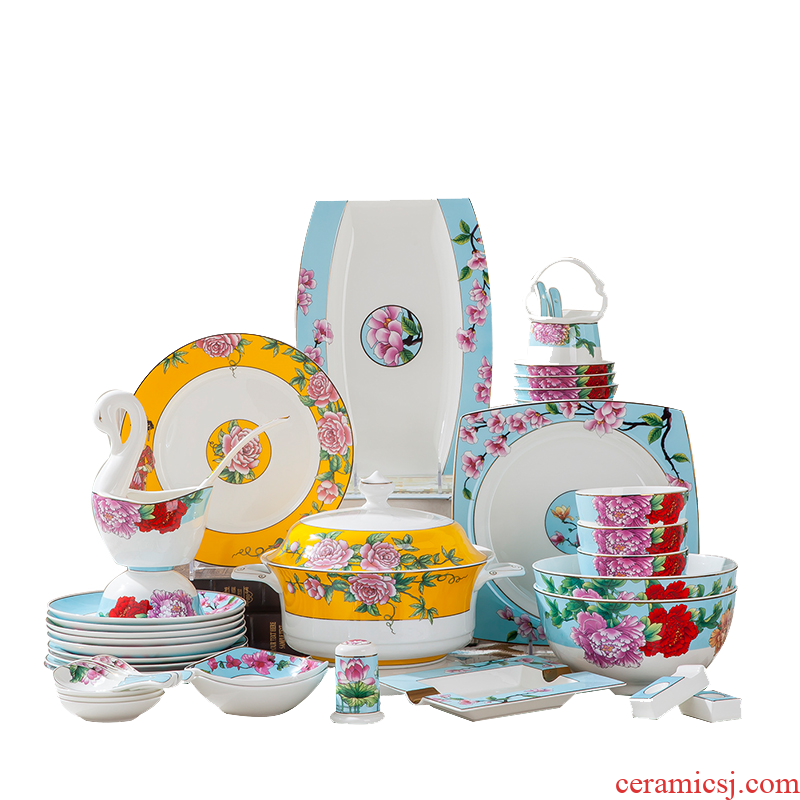 Treasure at the South Pole plate set dinner set bowl bowls with European contracted combiner ipads bowls tableware/a plate