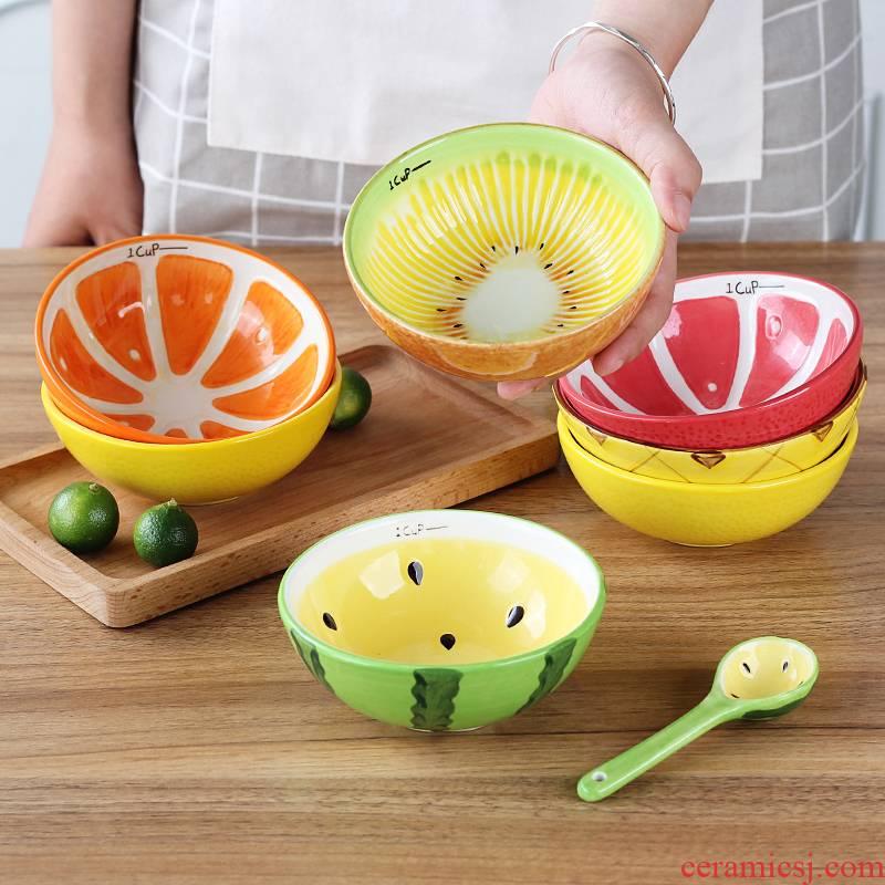 Antarctic treasure fruit bowl of creative household tableware suit express cartoon rice bowls, salad bowl dessert bowl/children