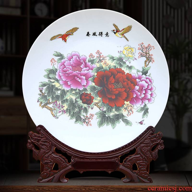 To industry prosperous decorative plate