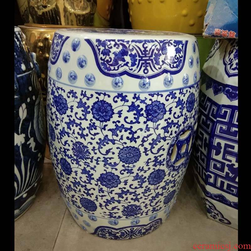 Jingdezhen porcelain put lotus flower porcelain who hand - made porcelain who cool blue who
