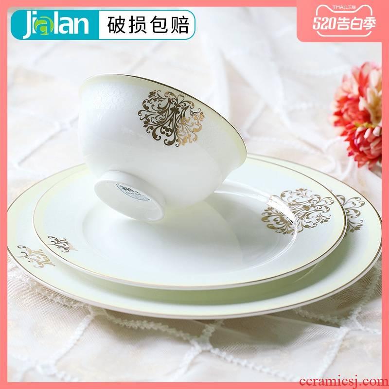 Garland ipads bowls of household food plates teaspoons of European - style originality tableware ceramics ceramic bowl chopsticks sets a single rainbow such use