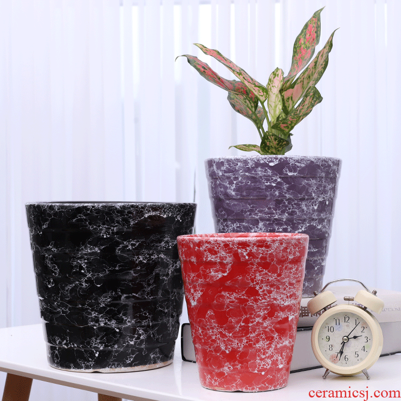 Crystalline glaze flower pot ceramic oversized packages mailed home sitting room other basin wholesale high European flowerpot clearance