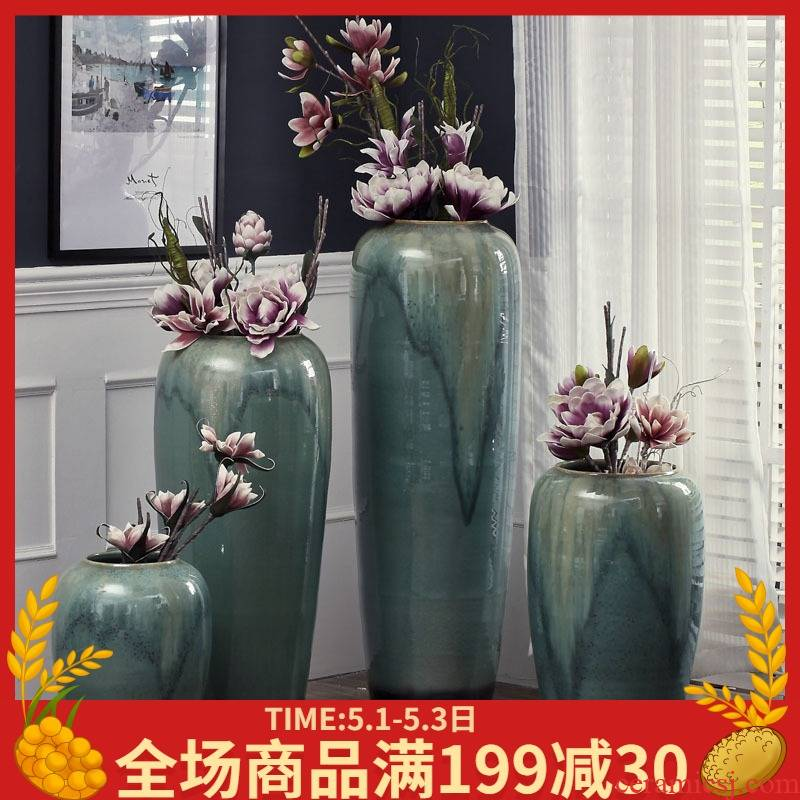 European ideas of jingdezhen ceramics of large vases, pottery flower arrangement sitting room hotel villa home soft decoration