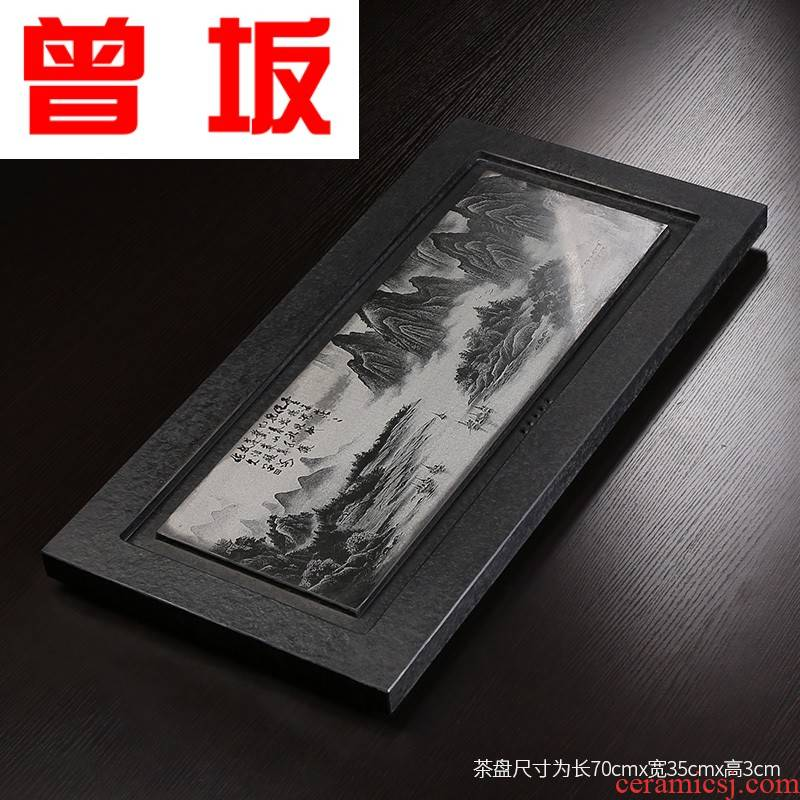 Once sitting the office the whole plate of landscape painting sharply stone, stone tea tea tray consolidation single tea tray tea tea table