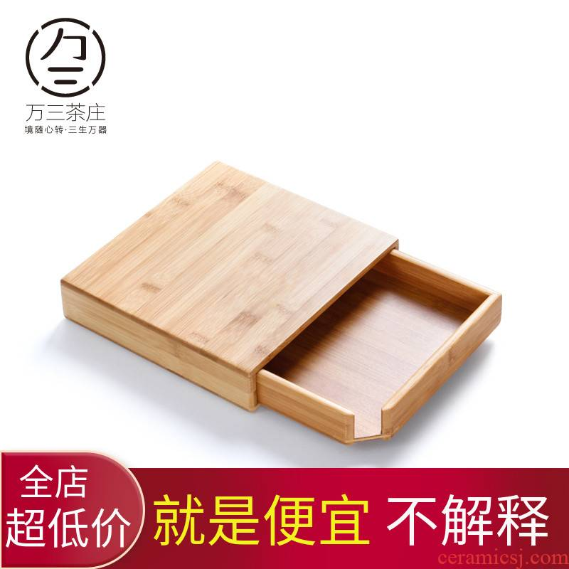 Three thousand tea kungfu tea set accessories bamboo tea box of the tea taking tea tray caddy fixings box the drawer