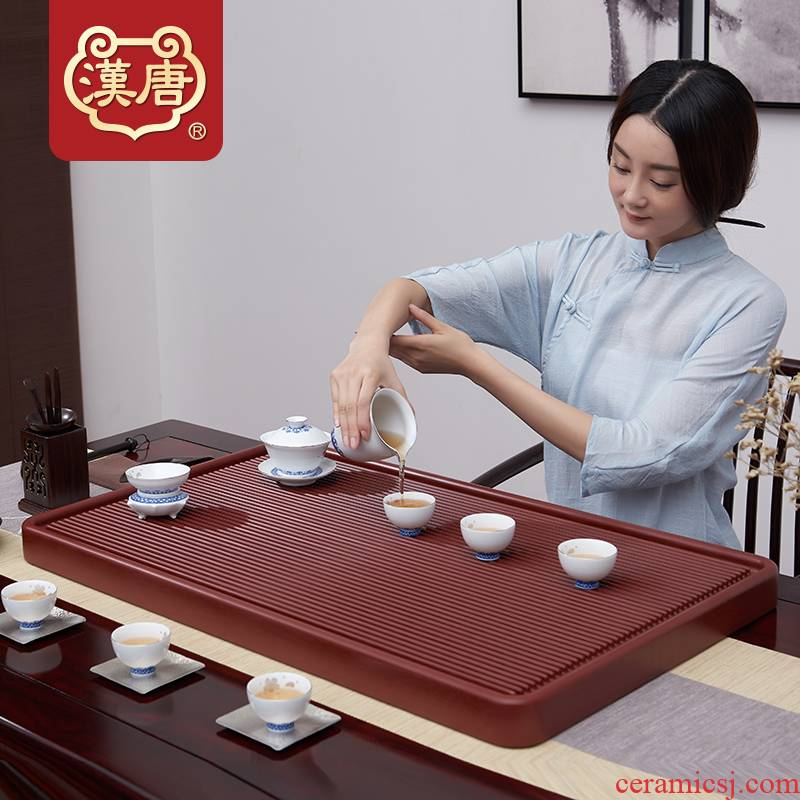 Han and tang dynasties tea bakelite tea tray tea sets of I and contracted household rectangle electric bakelite tea tray was dry sea terms drainage