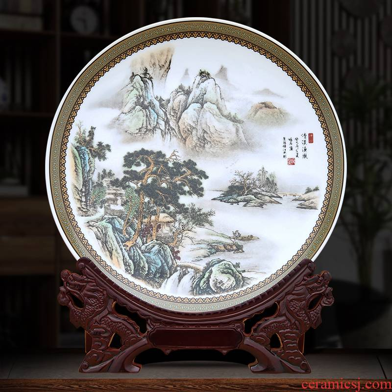 Qingxi yu le decorative plate to industry