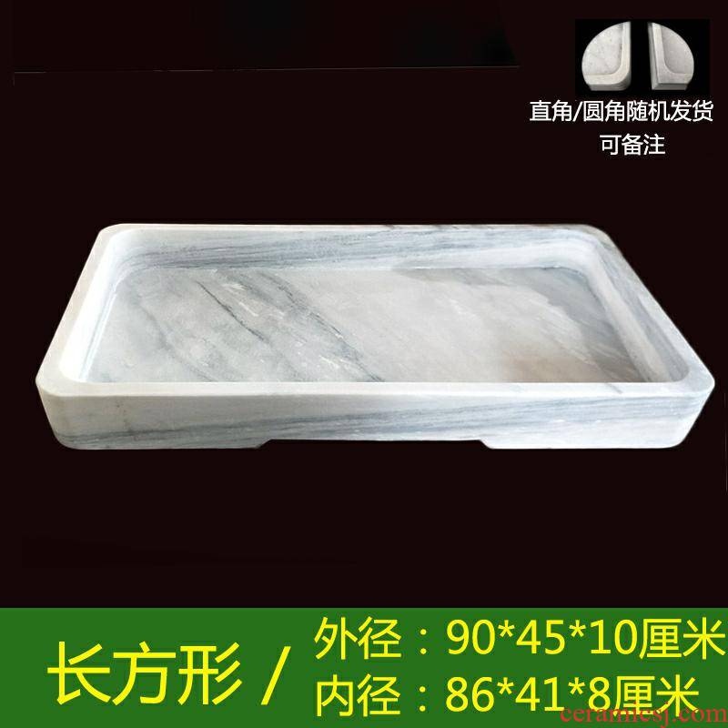 Rockery miniascape of basin water stone marble base rectangle natural stone flower pot to heavy landscape one tray