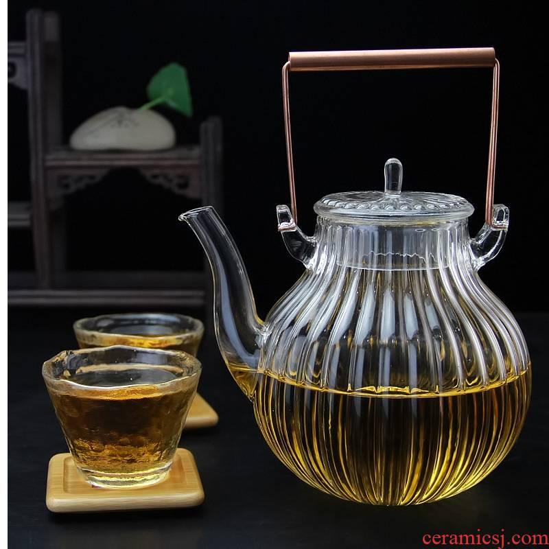 Royal pure Pyrex cooking pot teapot home office electric teapot copper girder TaoLu steam pot of tea