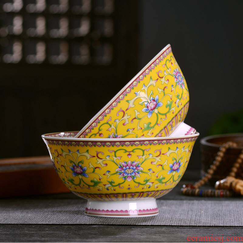 Chinese style household ipads porcelain of jingdezhen ceramic bowl of rice porridge, gifts customized archaize tableware bowl longevity noodles in soup bowl bowl
