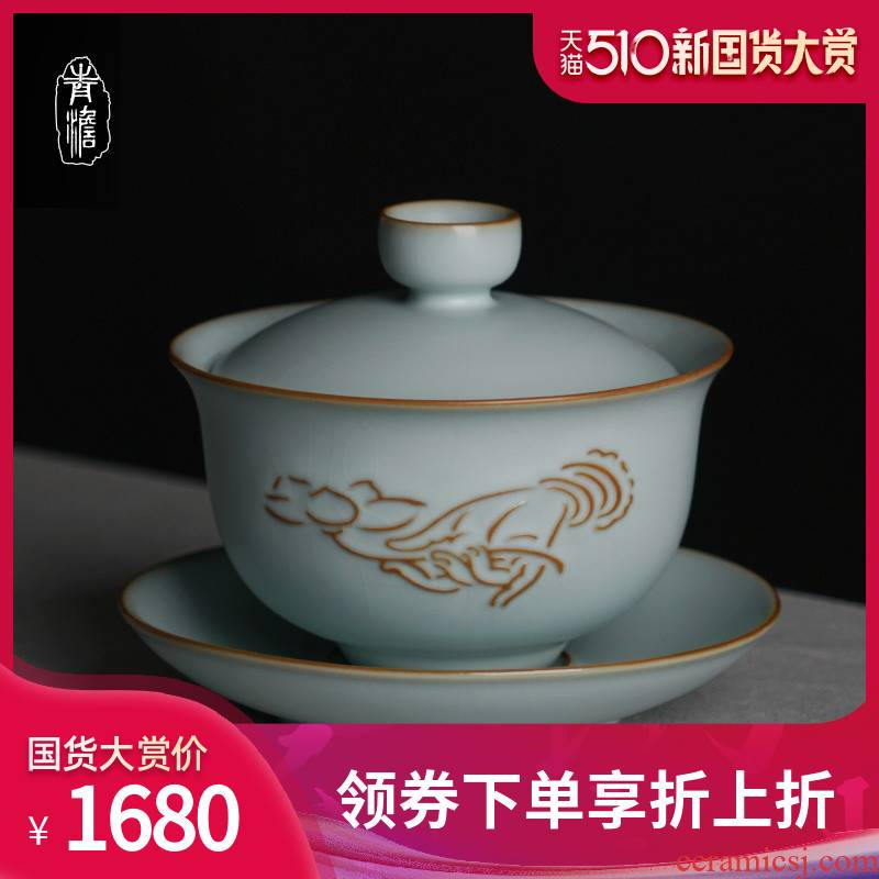 Your up three didn 't open the slice tureen tea cups can be 2 support a family tea bowl of jingdezhen porcelain kung fu tea set manually