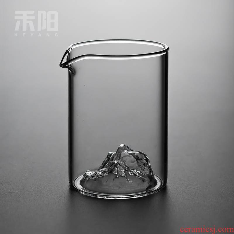 Send Yang snow mountain tea more reasonable glass cup and cup points contracted heat - resistant glass tea sea kung fu tea accessories