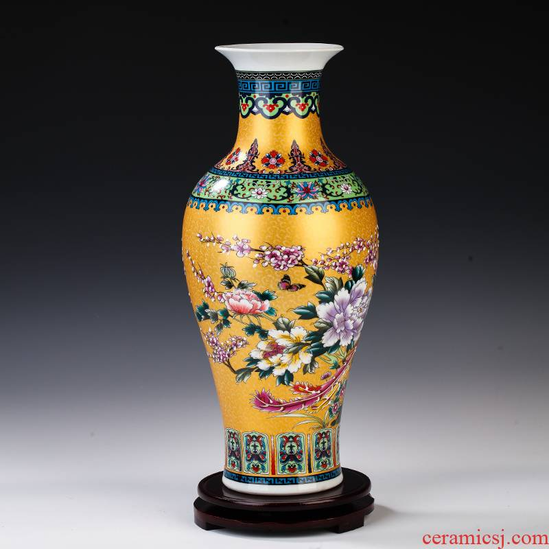 Mesa of jingdezhen ceramics colored enamel big vase furnishing articles sitting room porch flower arranging porcelain home decoration