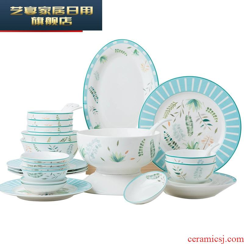 Ipads bowls dish suits for home 4/6 people eat bowl bowl plate Nordic good - & adults ceramic dishes