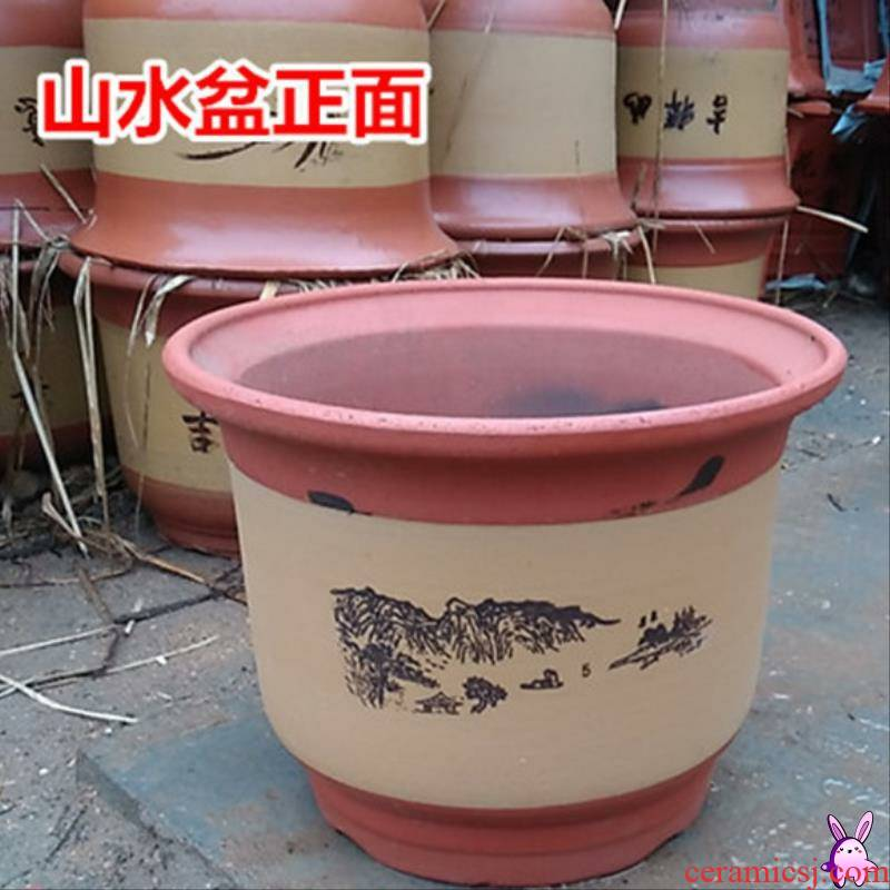 Place like big flowerpot name plum purple sand flowerpot large oversized gardening ceramic flower pot orchid flower POTS home sitting room