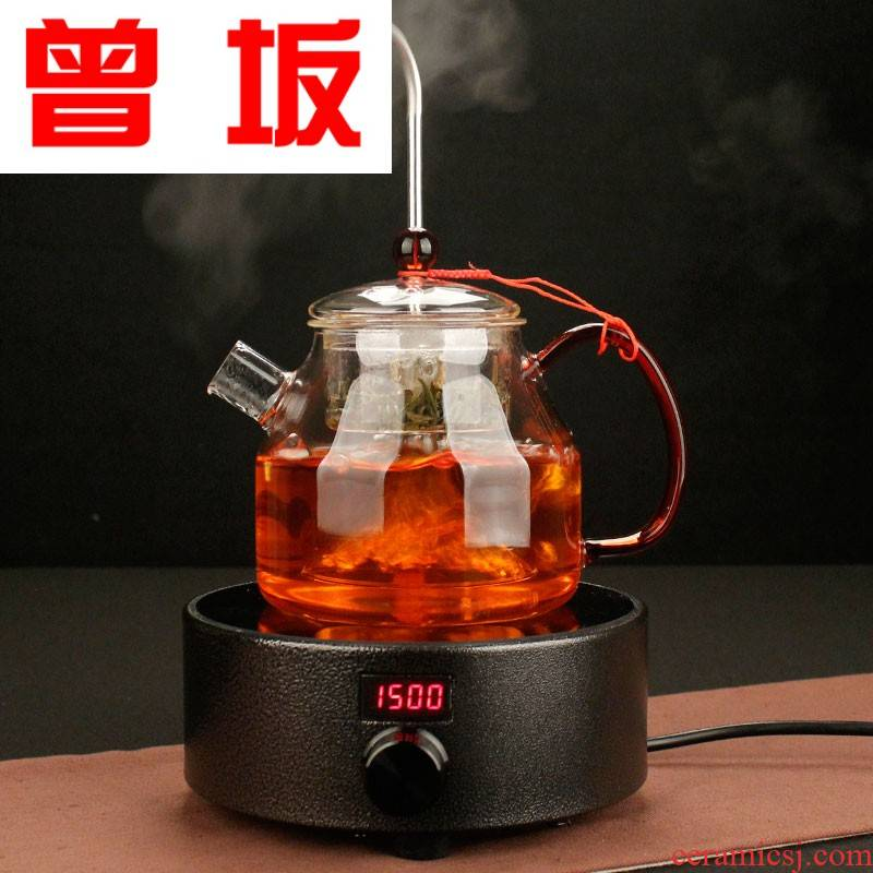 Once sitting kung fu tea sets pumping electric TaoLu glass cooking pot, heat - resistant glass steaming tea kettle