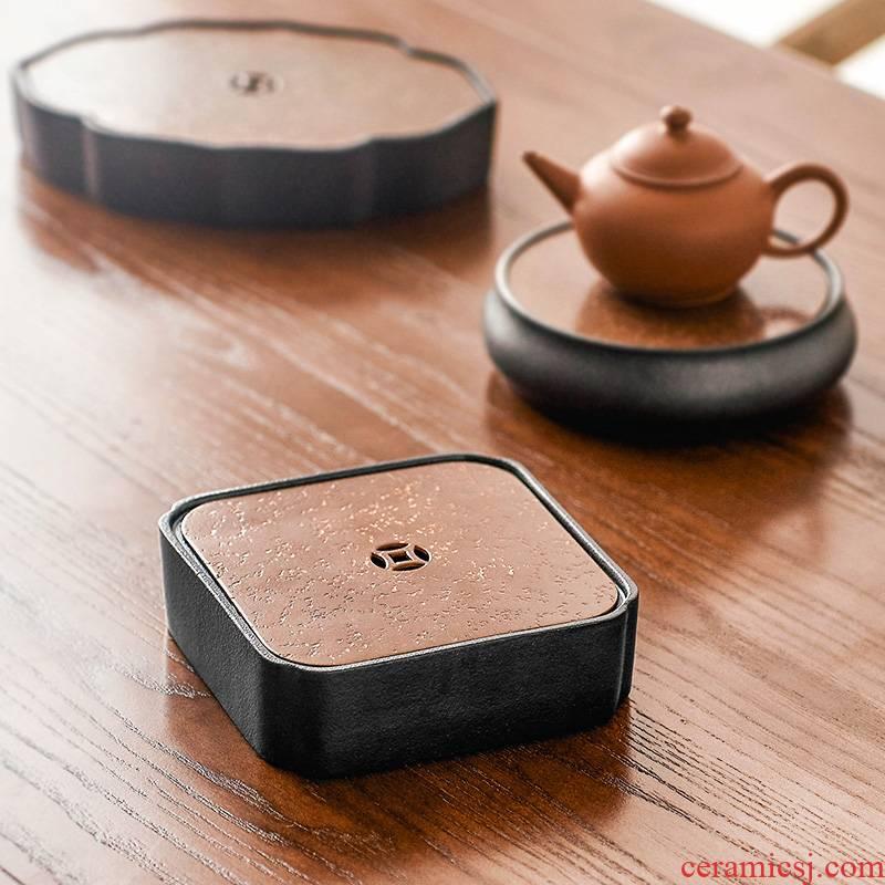 Qiu time Japanese pot bearing ceramic water dry plate of kung fu tea tea tray mat tray filling pot a pot of tea tray