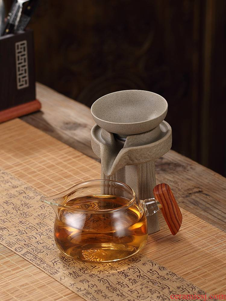 Morning high lateral fair the glass tea cup high - temperature points) a body suit filtered pour cup Japanese household