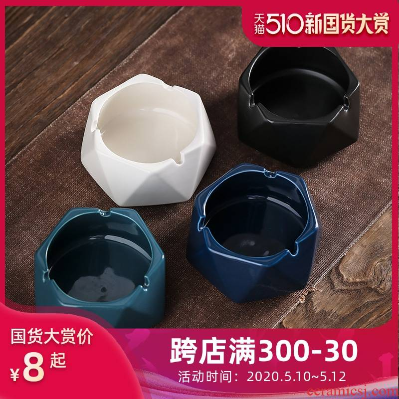 Jun ware ceramic household individuality creative trend against the fly ash sitting room office atmosphere contracted and fashionable ashtray