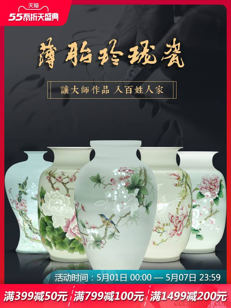 Jingdezhen ceramics hand - made vases, flower arrangement of Chinese style home sitting room adornment TV ark, porch place of marriage