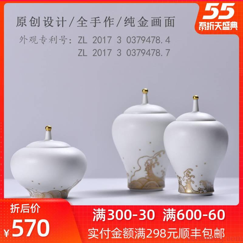 Bright checking ceramic tea pot small tea warehouse mini portable pure hand - made seal pot POTS and POTS