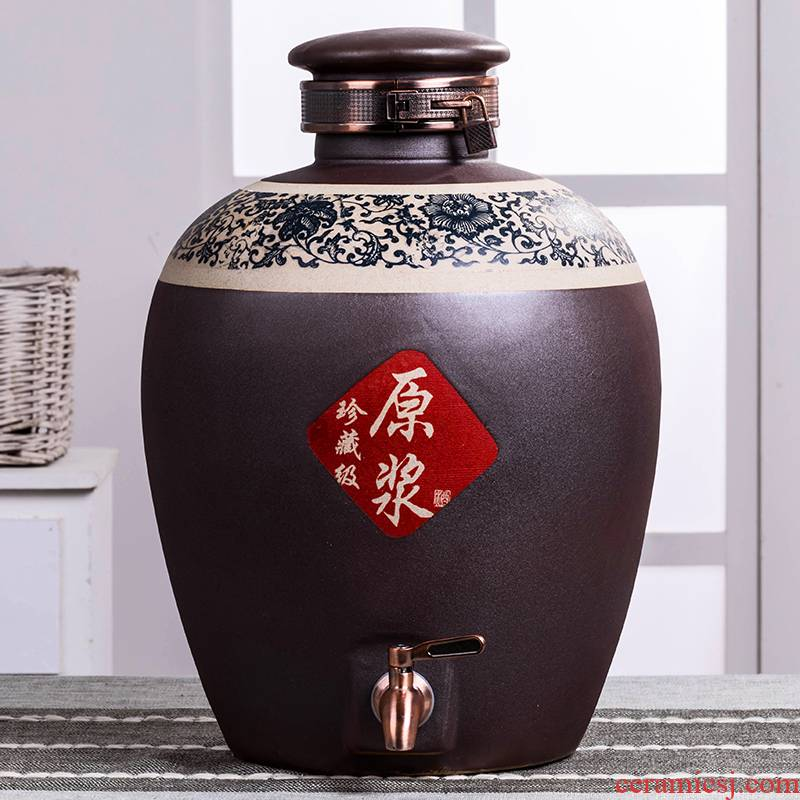 Jingdezhen ceramic jars seal pot (50 kg/household store it wine jugs of liquor bottles