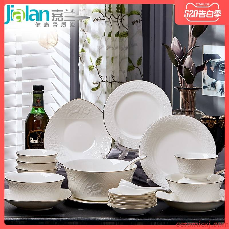Garland ipads porcelain tableware optional combination with big bowl rice rainbow such use simple move continental anaglyph dishes