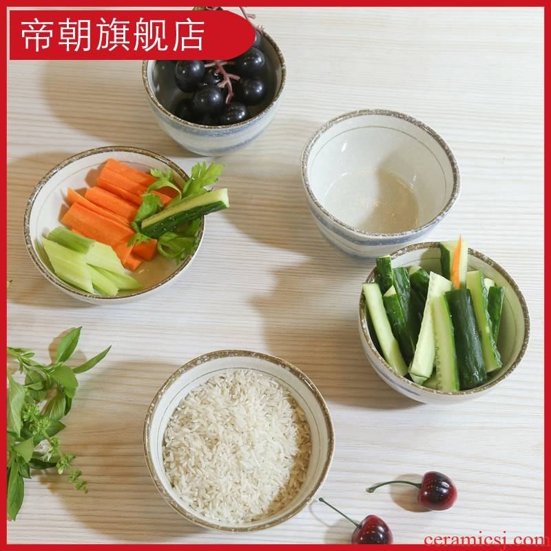 Emperor in the use of home day type plate eat bowl move can be combined creative hand - made ceramic dishes suit