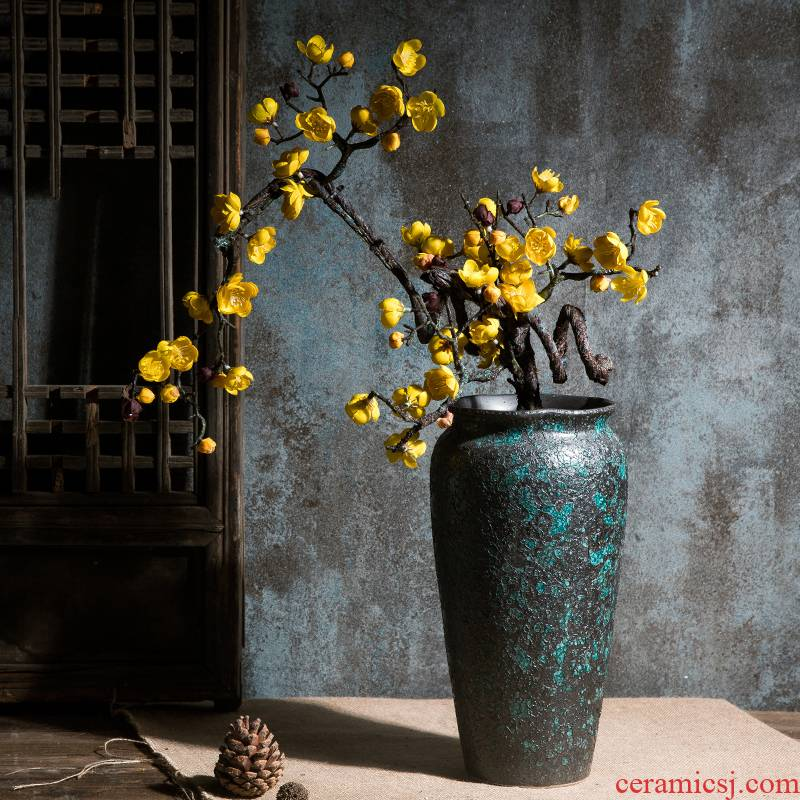 Simulation flower wintersweet name plum flowers, Chinese style household adornment silk flowers zen flower vases, pottery sitting room small place